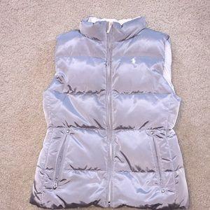 Girls Ralph Lauren Gray Vest Size 12/14